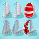 Sail Boat Set 01 Vehicle Isometric - GraphicRiver Item for Sale