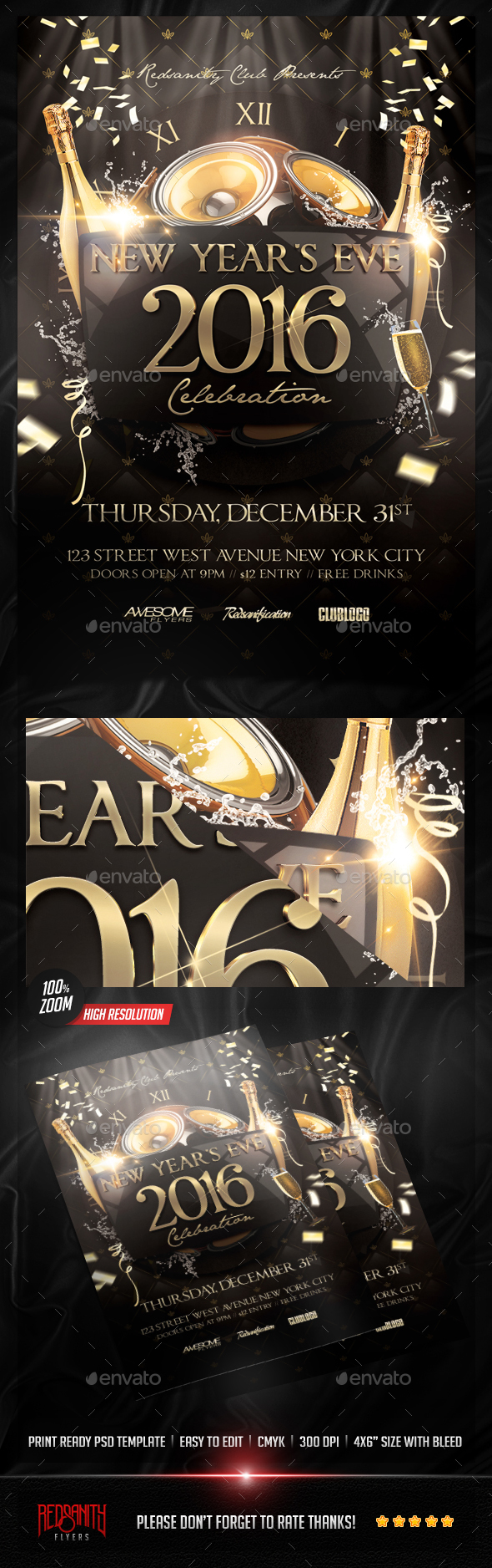 NYE Celebration Flyer - Events Flyers