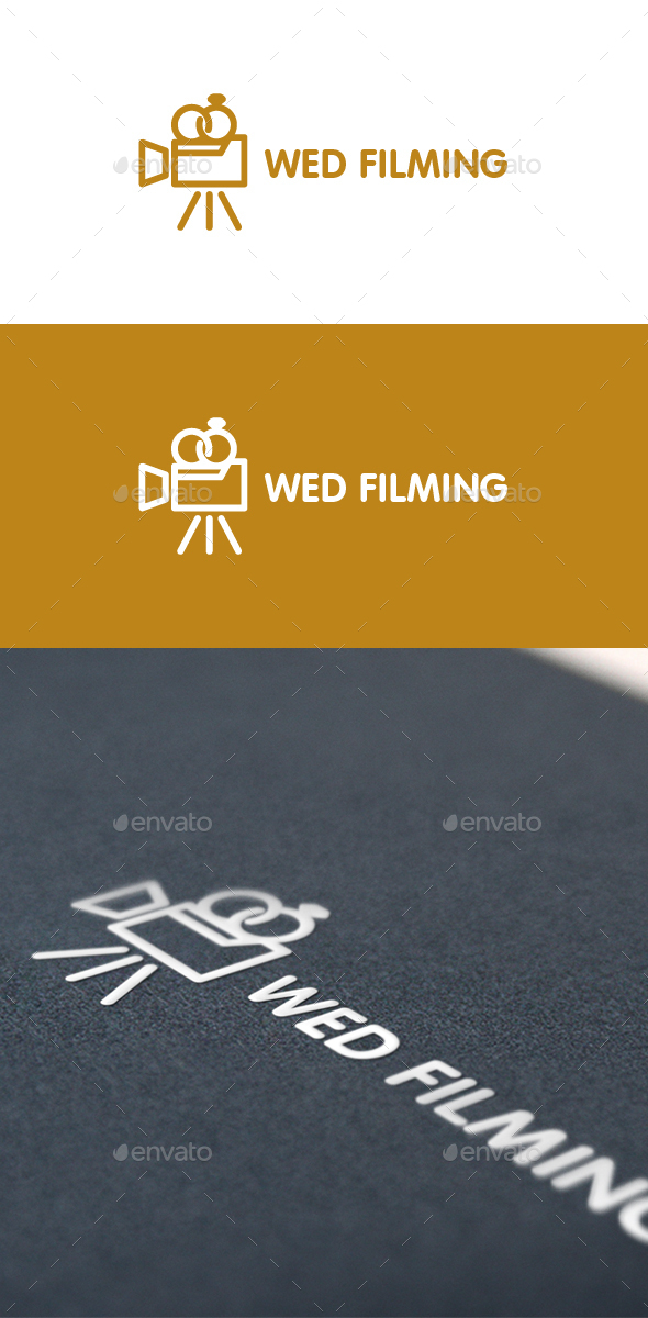 Wed Filming - Wedding Documentation Logo - Objects Logo Templates