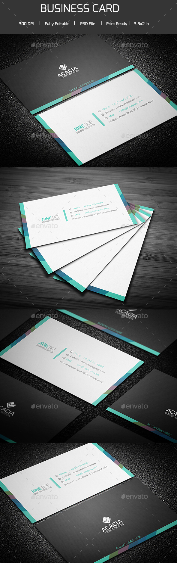 Simple and Clean Business Card V-04 - Corporate Business Cards
