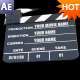 Movie Clapper animation AE Project - VideoHive Item for Sale