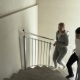 Couple Running Up The Spiral Stairs - VideoHive Item for Sale