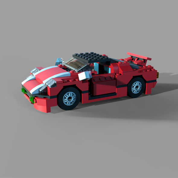 LEGO 5867 Super Speedster - 3DOcean Item for Sale
