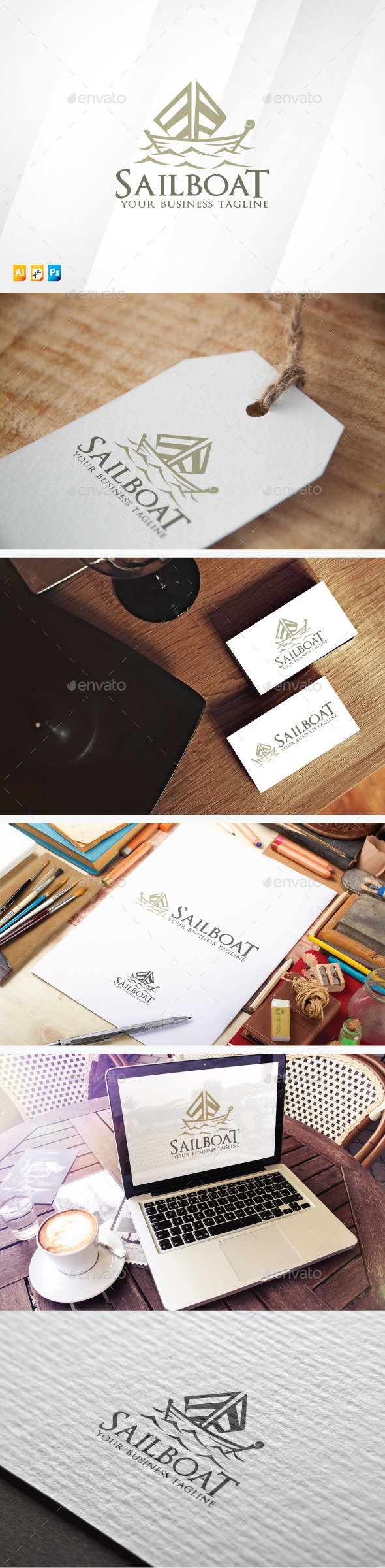 Sailboat - Objects Logo Templates