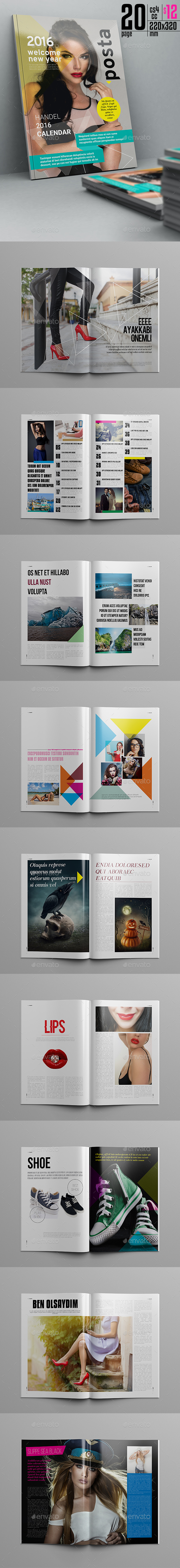 Posta Magazine Template 20 Pages - Magazines Print Templates