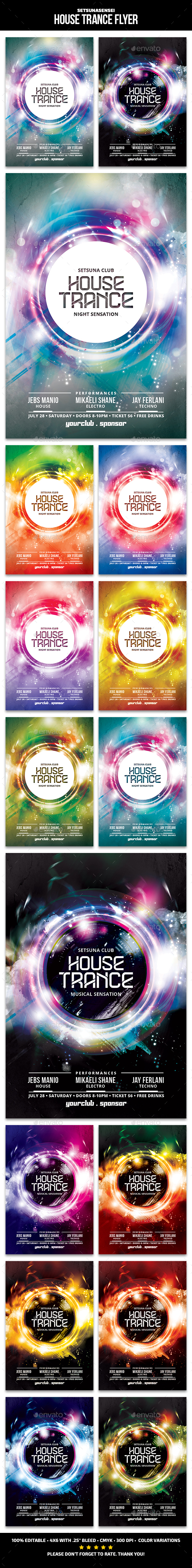 House Trance Flyer - Clubs & Parties Events