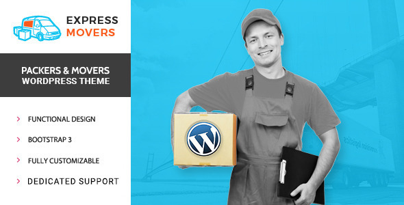 Express Movers – Moving Company WordPress Theme