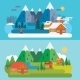 Winter and Summer Mountain Scene - GraphicRiver Item for Sale