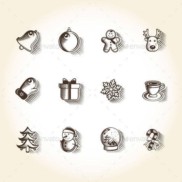Vintage Christmas Icons - Seasonal Icons