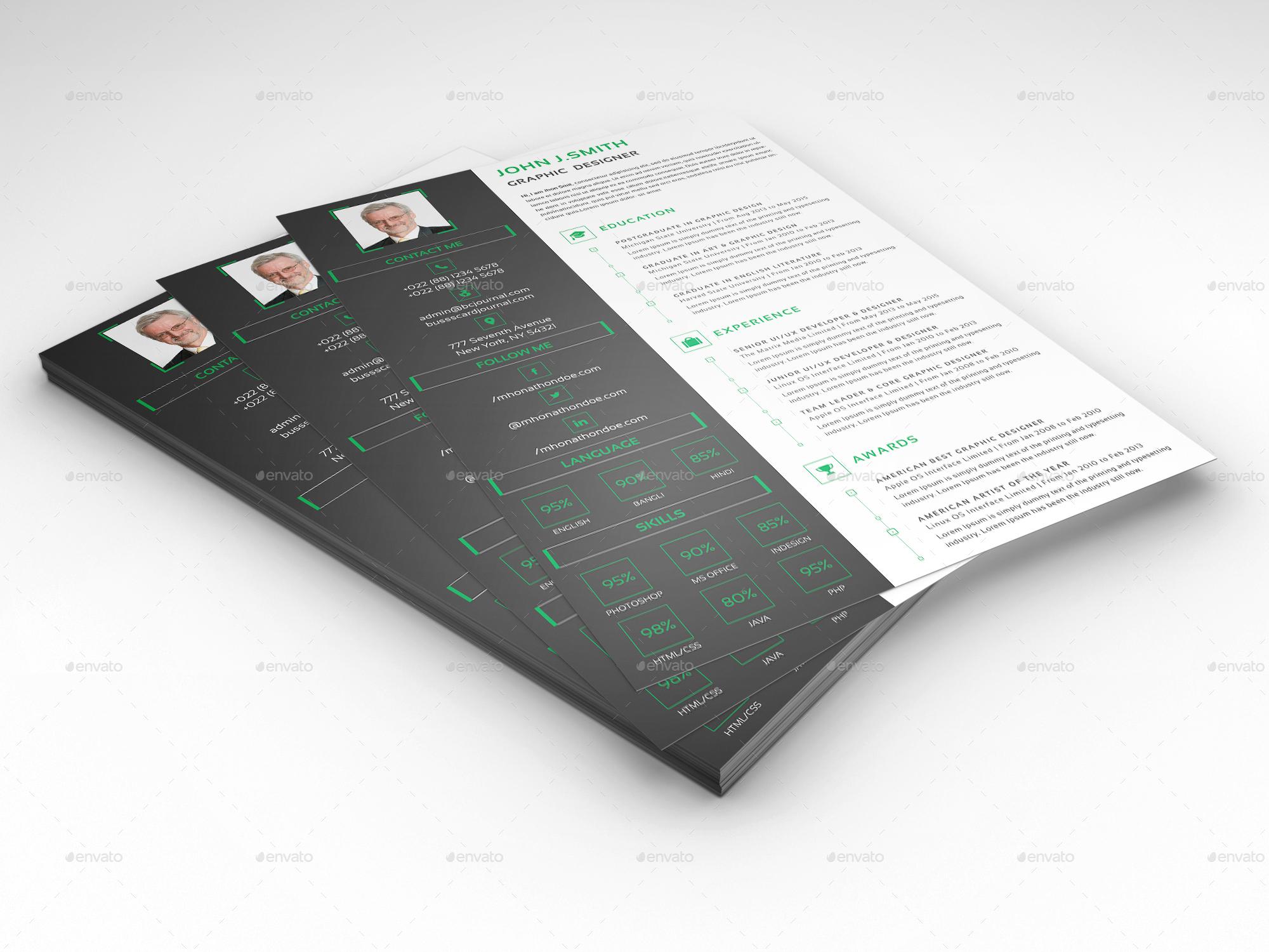 corporate resume design