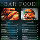 Bar Menu Flyer / Bi-fold Menu Template - GraphicRiver Item for Sale