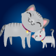Gray Cat and Kitten Family - GraphicRiver Item for Sale