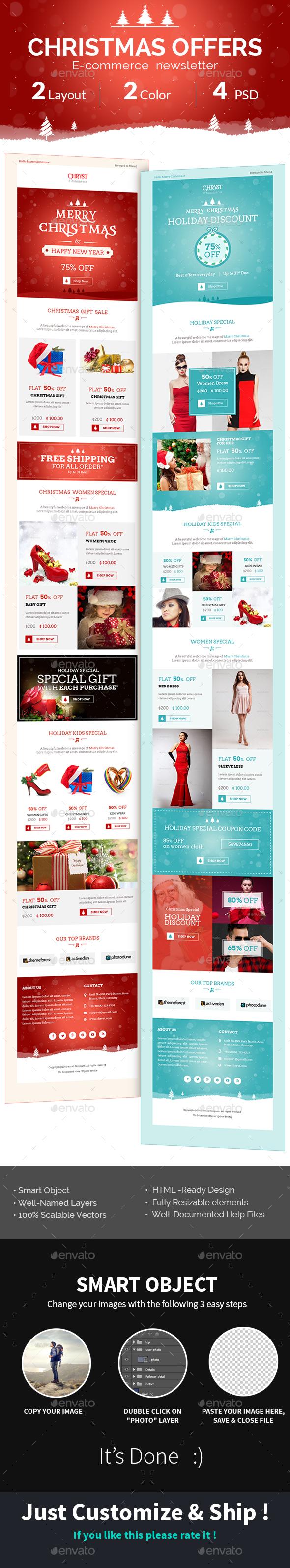 Christmas Shopping Offers | e-Commerce Newsletter - E-newsletters Web Elements