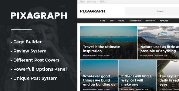 Pixagraph - Responsive WordPress News/Blog Theme - Blog / Magazine WordPress