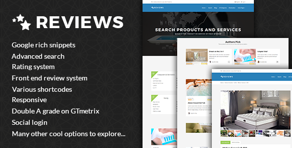 Reviews – Products And Services Review WP Theme