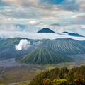 Mount Bromo and Batok volcanoes in Bromo Tengger Semeru National - PhotoDune Item for Sale