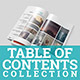Table of Contents Collection - GraphicRiver Item for Sale