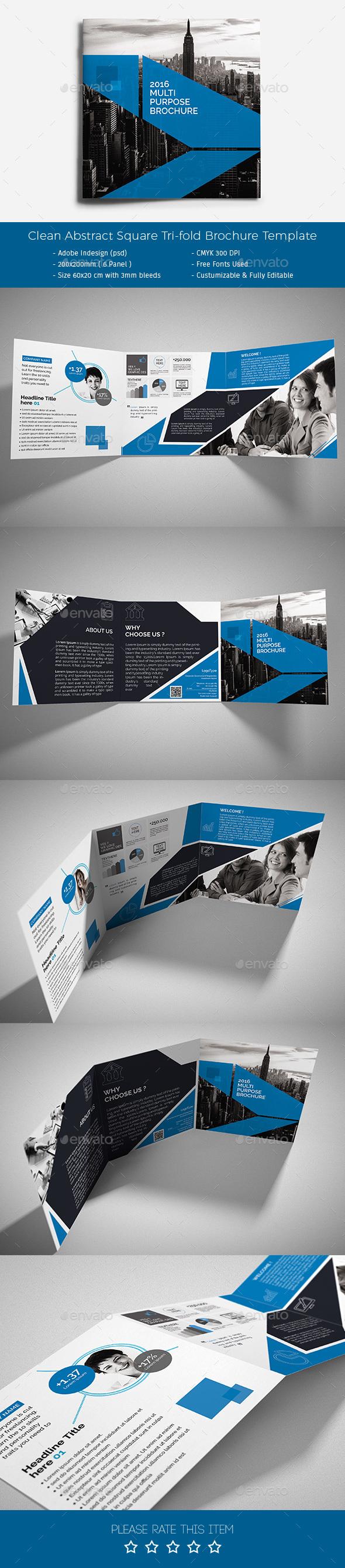 Corporate Tri-fold Square Brochure 04 - Corporate Brochures