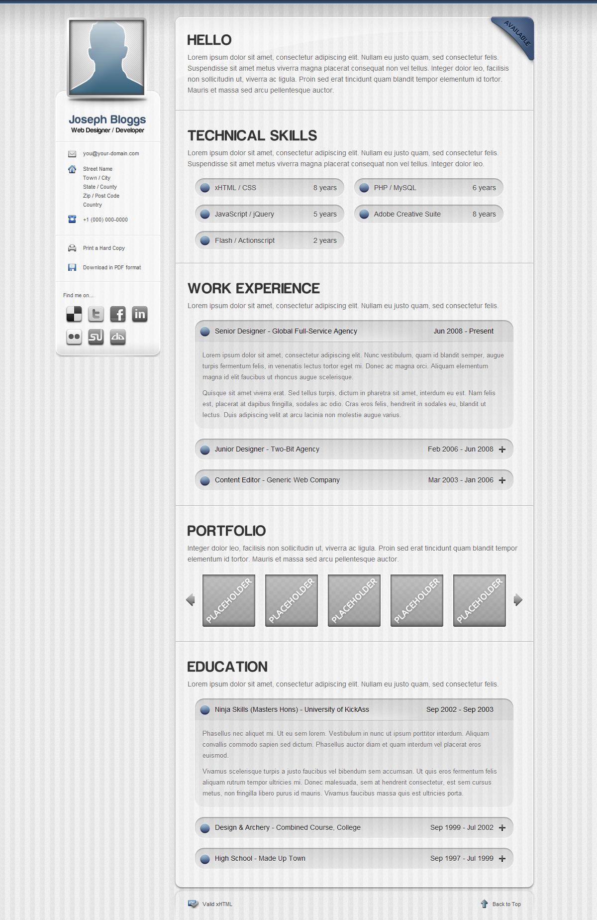 Pinstripe premium resume cv template by pixelbuffet themeforest pinstripe premium resume cv template yelopaper Choice Image