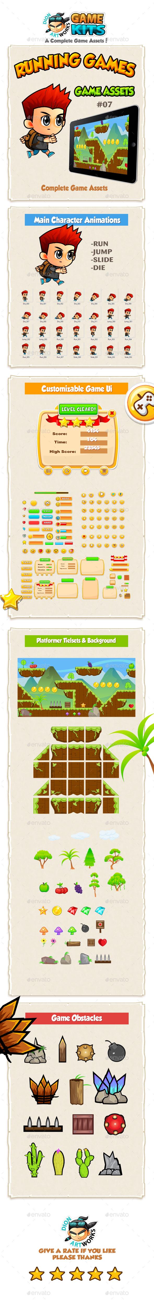 Running Boy Game Assets 07 - Game Kits Game Assets