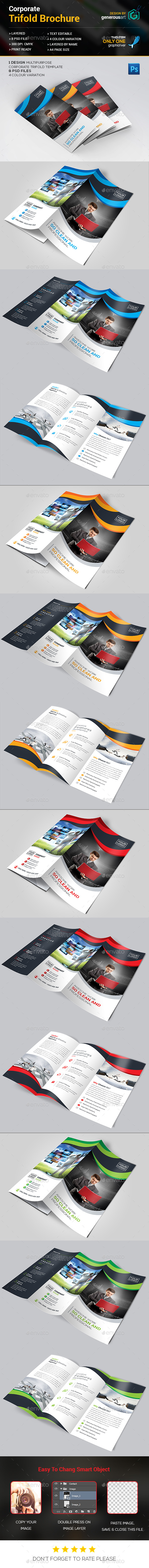 Clean Trifold Brochure - Corporate Brochures
