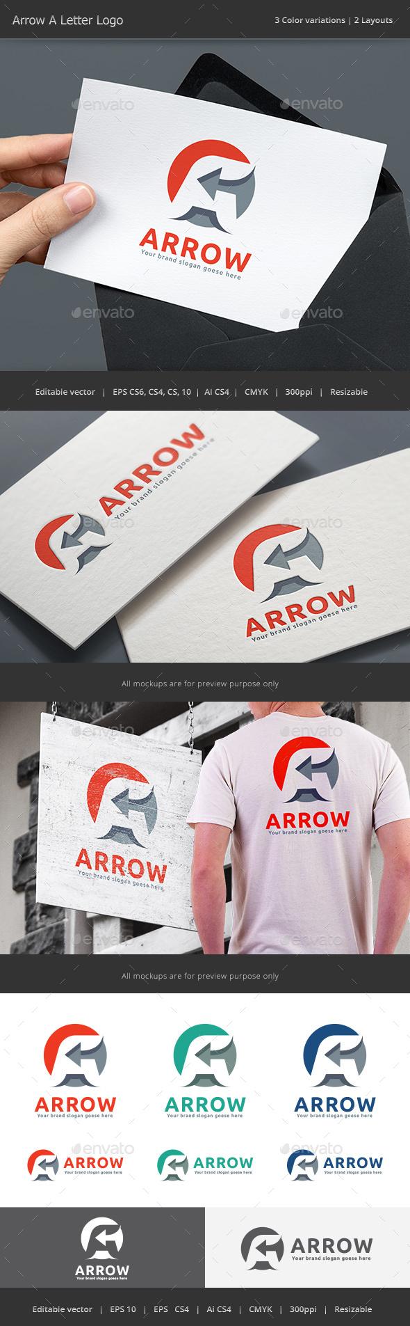 Arrow Letter A Logo - Letters Logo Templates