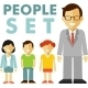 People Characters Icons Set Flat Style - GraphicRiver Item for Sale