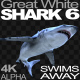 Shark 6 Swims Away - VideoHive Item for Sale