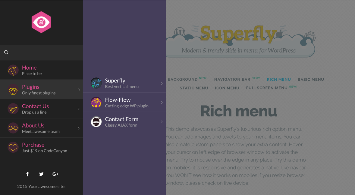 WordPress Menu Plugin — Superfly Responsive Menu