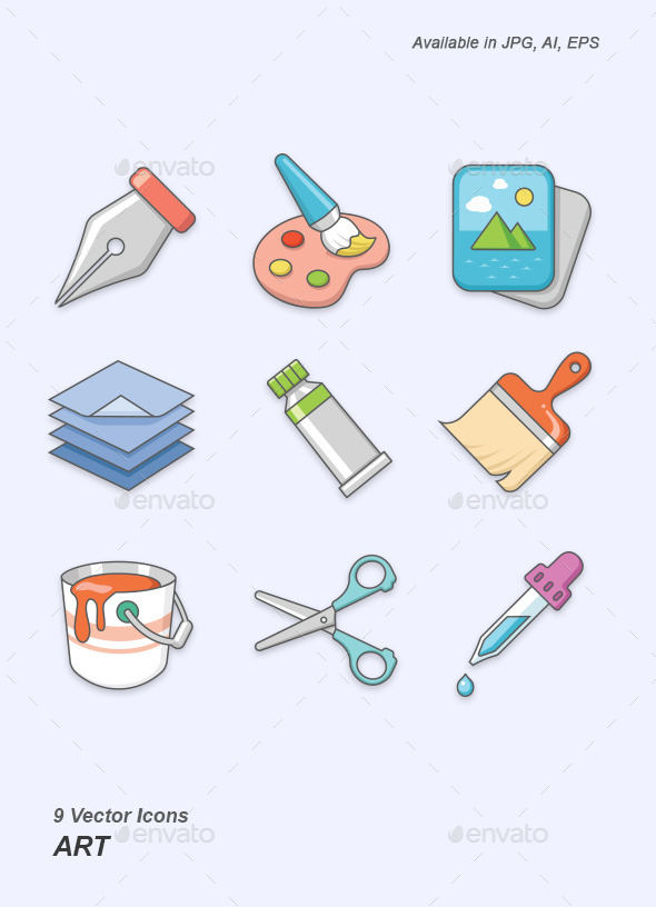 Art vector icons - Man-made objects Objects