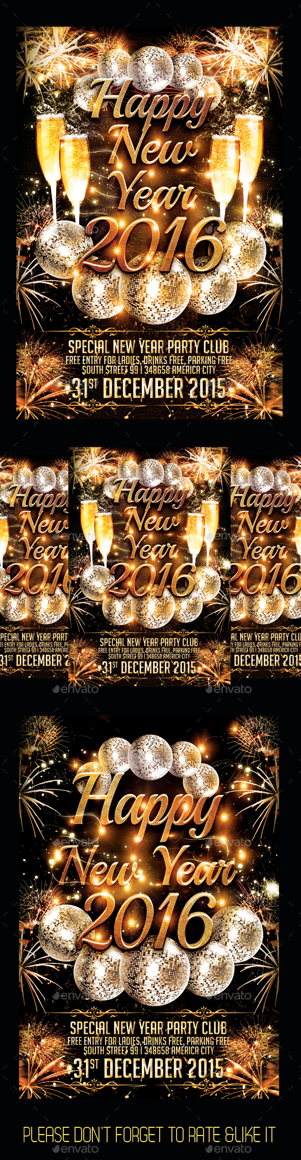 Happy New Year 2016 - Events Flyers