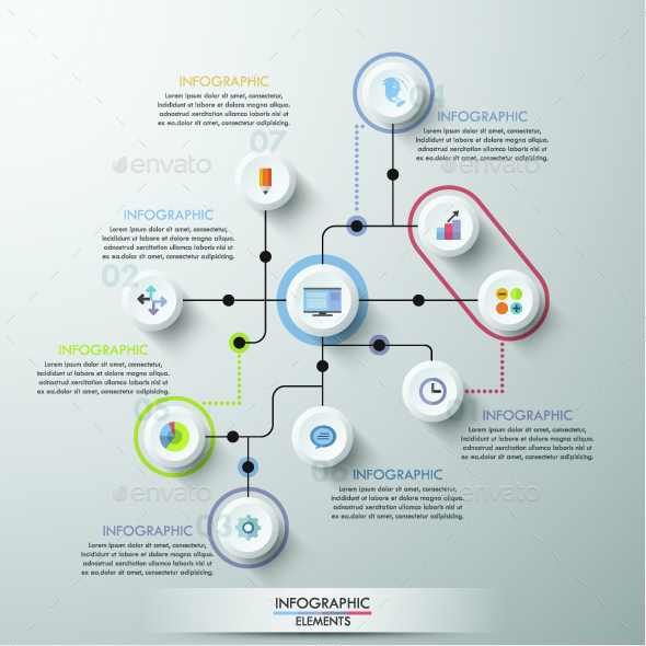 Modern Infographics Circle Template - Infographics