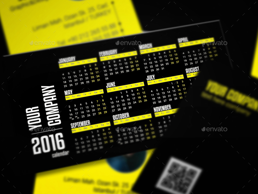 calendar business card