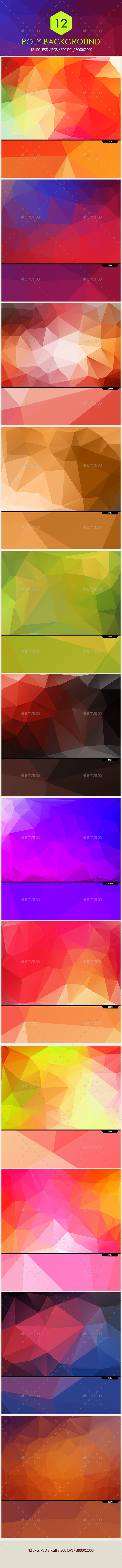 """Polygon Backgrounds"" - Abstract Backgrounds"