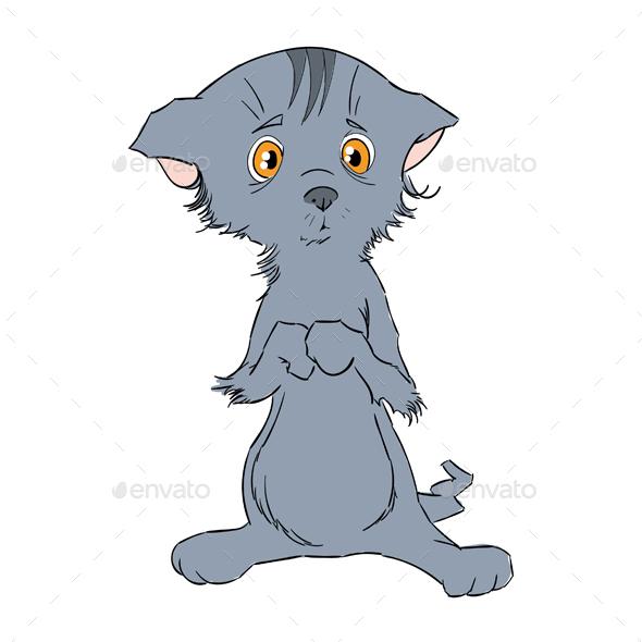 Sad Kitten - Characters Illustrations