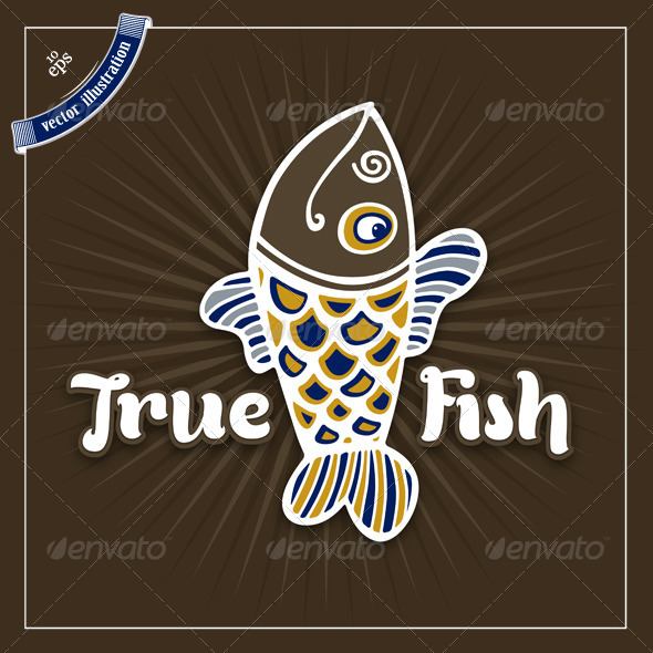 True Fish Logo Template - Animals Logo Templates