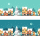 Winter Town Urban Winter landscape Cityscape - GraphicRiver Item for Sale