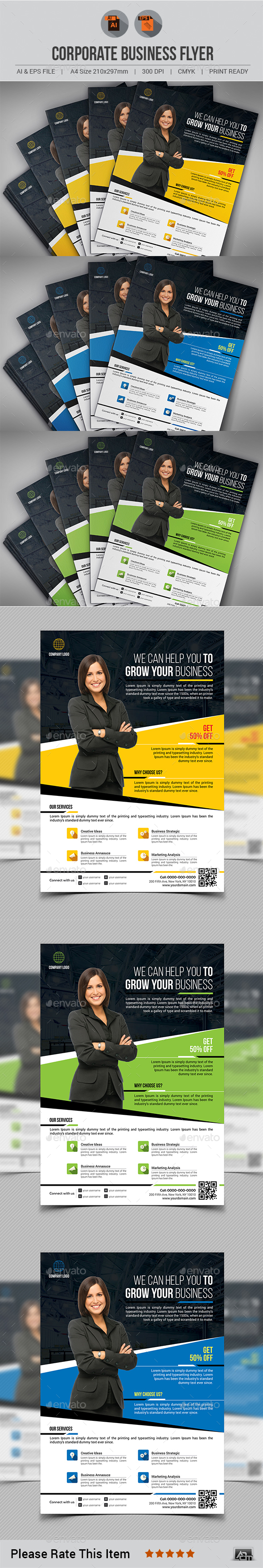 Corporate Business Flyer Template V3 - Corporate Flyers
