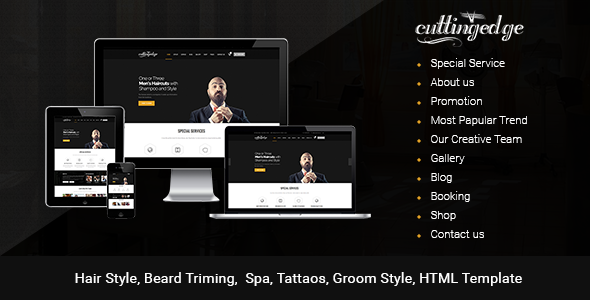 Cutting Edge – Barber Html Template