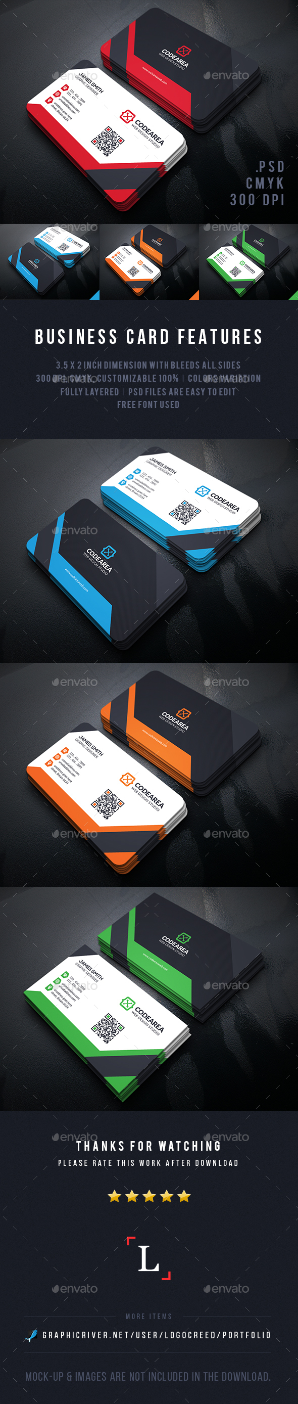 Professional Business Cards - Business Cards Print Templates