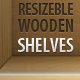Resizeble Wooden Shelves - GraphicRiver Item for Sale