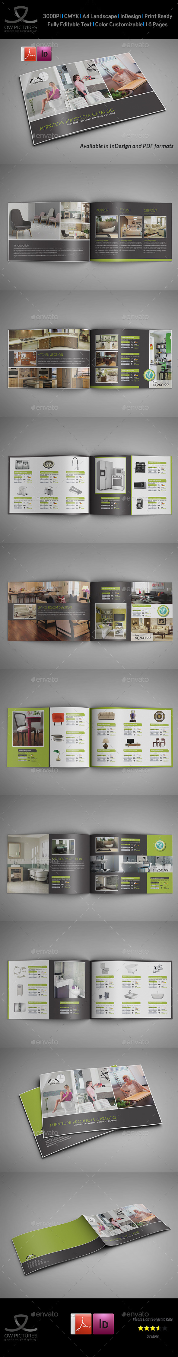 Furniture Products Catalog Brochure - 16 Pages - Catalogs Brochures