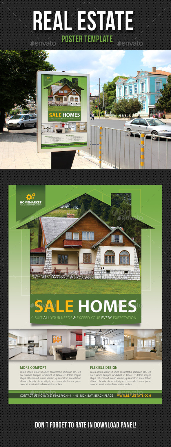 Real Estate Agency Poster Template 01 - Signage Print Templates