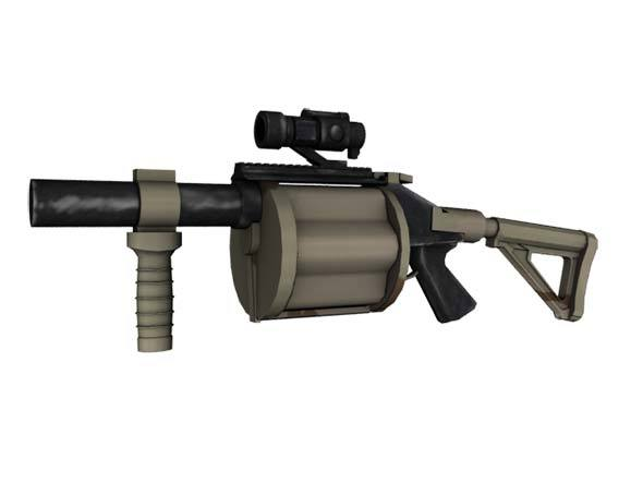 Grenade_launcher - 3DOcean Item for Sale