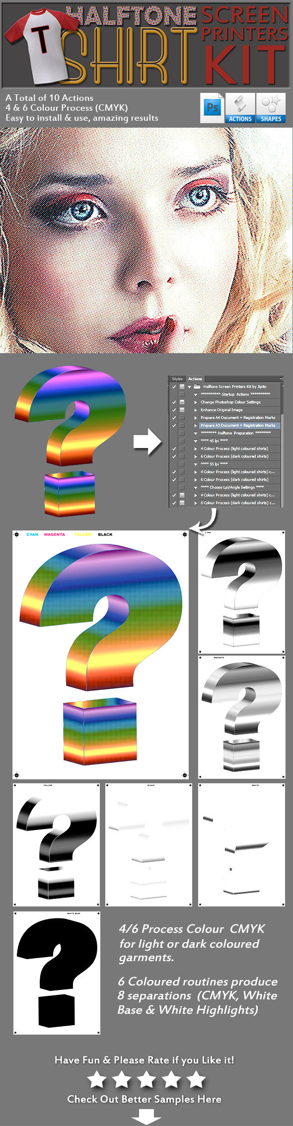 Halftone Screen Printers Kit - Utilities Actions