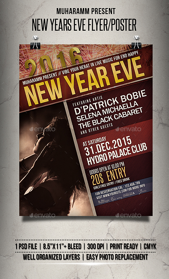 Nwe Year Eve Flyer / Poster - Clubs & Parties Events
