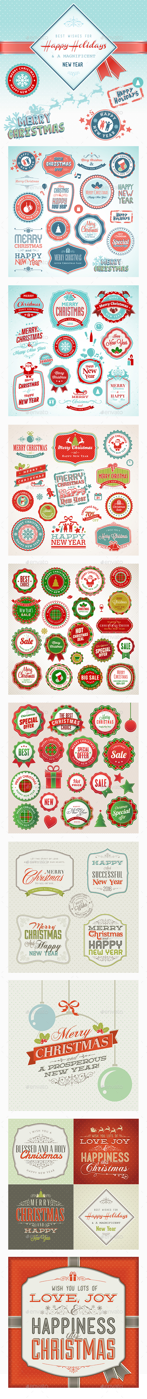 Christmas and New Year Vintage Bundle - Christmas Seasons/Holidays