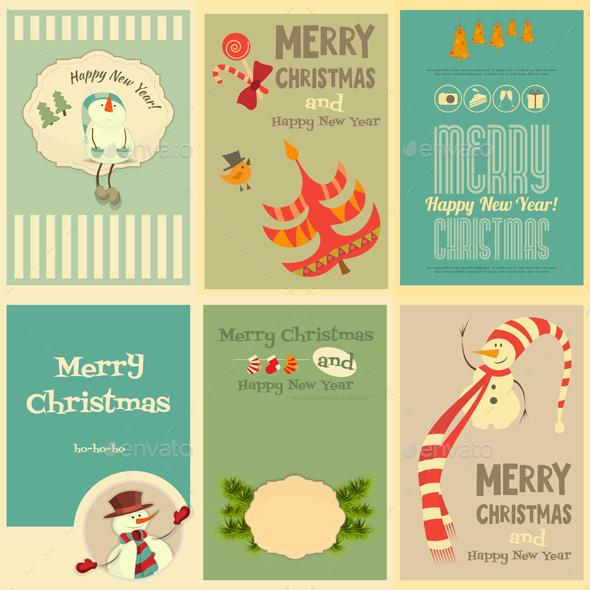 Set of Cute Christmas Mini Posters - Christmas Seasons/Holidays