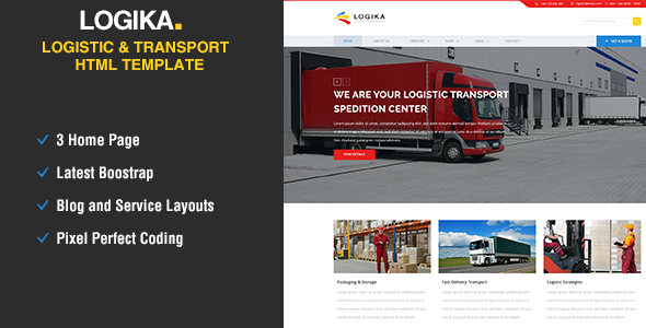 Logica – Logistic, Warehouse & Transport HTML