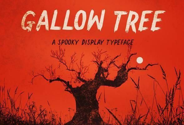 Gallow Tree font - Grunge Decorative